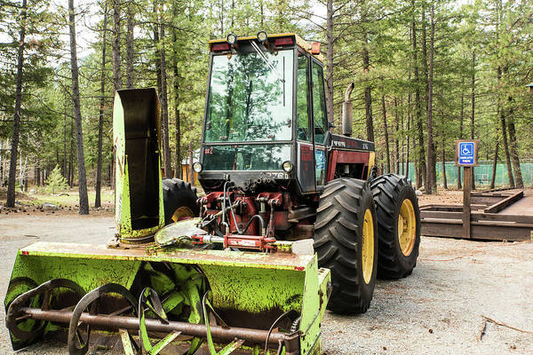 Photograph - Tractor Snow Blower by Tom Cochran