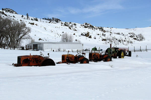 Photograph - Tractors In Snow by Marie Leslie