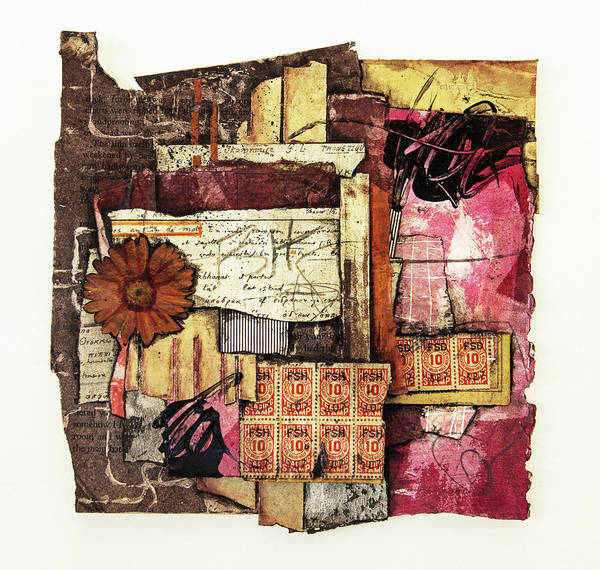 Graphic Mixed Media - Trading  Stamps by Laura Lein-Svencner