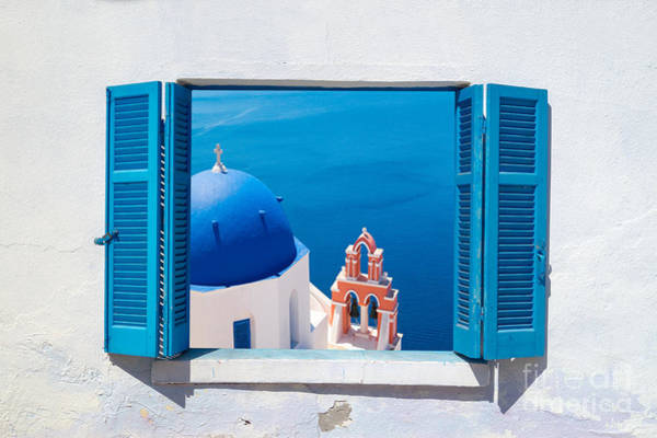 Wall Art - Photograph - Traditional Architecture Of Oia Village by Yiannis Papadimitriou