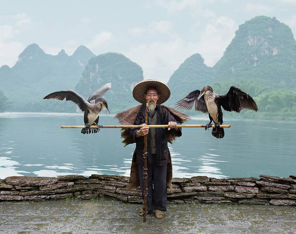 Chinese Clothing Wall Art - Photograph - Traditional Chinese Fisherman by Ed Freeman