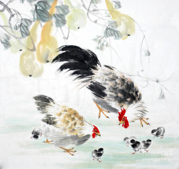 Wall Art - Digital Art - Traditional Chinese Ink Painting by Ibird
