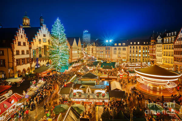Deutschland Photograph - Traditional Christmas Market In The by S.borisov