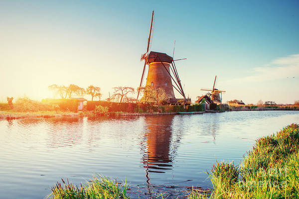 Wall Art - Photograph - Traditional Dutch Windmills From The by Standret