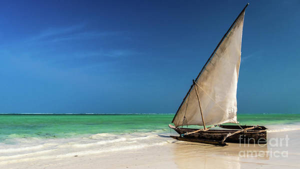 Photograph - Traditional Fishing Boat On The Beach by Lyl Dil Creations