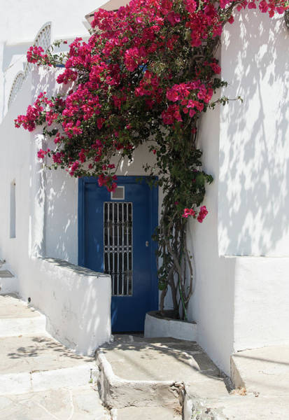 Outdoor Wall Art - Photograph - Traditional Greek Island House Entrance by Michalakis Ppalis