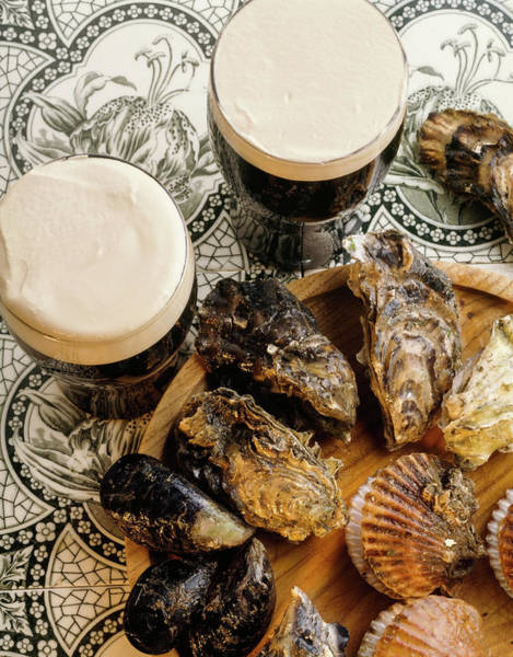 Oyster Bar Wall Art - Photograph - Traditional Irish Guiness And Oysters by The Irish Image Collection