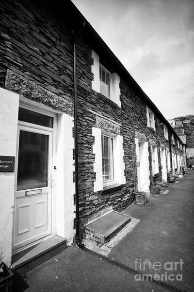 Wall Art - Photograph - Traditional Lakeland Stone Style Cottages Now Used As B And B Holiday Cottages Windermere Lake Distr by Joe Fox
