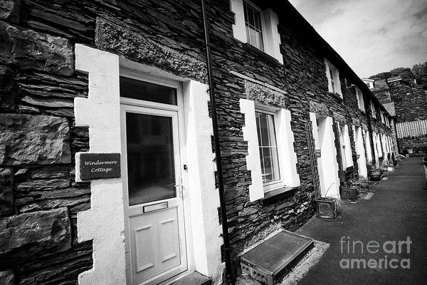 Wall Art - Photograph - Traditional Lakeland Stone Style Cottages Now Used As B B Holiday Cottages Windermere Lake District  by Joe Fox