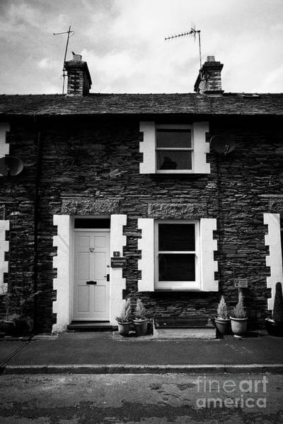 Wall Art - Photograph - Traditional Lakeland Stone Style Cottages Now Used As Bb Holiday Cottages Windermere Lake District  by Joe Fox