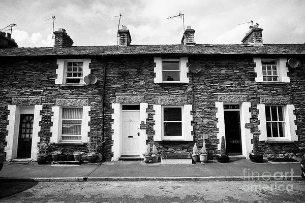 Wall Art - Photograph - Traditional Lakeland Stone Style Cottages Now Used As Holiday Cottages Windermere Lake District  by Joe Fox