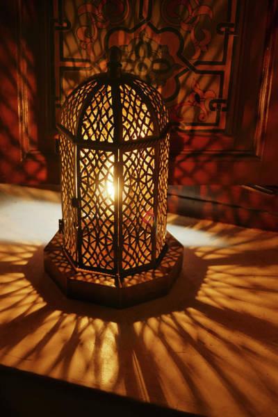 Photograph - Traditional Lantern Lamp In Luxury Hotel by Steve Estvanik