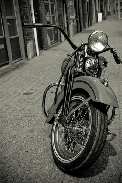 Scheveningen Photograph - Traditional Motorcycle On The Pathway by Marcos Semola