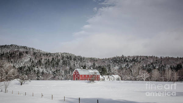 Wall Art - Photograph - Traditional New England Farm In Winter by Edward Fielding
