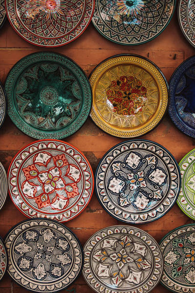 Wall Art - Photograph - Traditional Plates For Sale Marrakech by Pati Photography