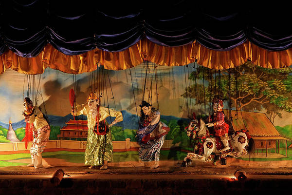 Customized Photograph - Traditional Puppet Show - Myanmar by Jlr