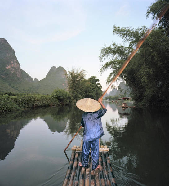 Photograph - Traditional Raft On Yulong River by Martin Puddy
