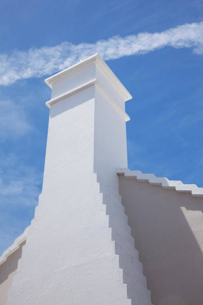 Bermuda Photograph - Traditional Roof And Chimney, Bermuda by Elisabeth Pollaert Smith