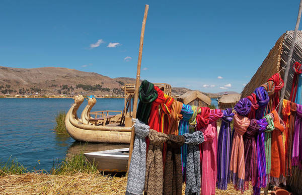 Puno Photograph - Traditional Scarves For Sale, Lake by Danita Delimont