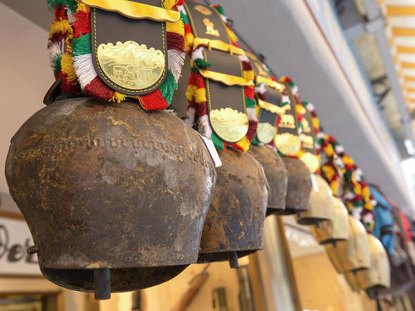 Bronze Age Wall Art - Photograph - Traditional Swiss Cowbells by Guy Midkiff