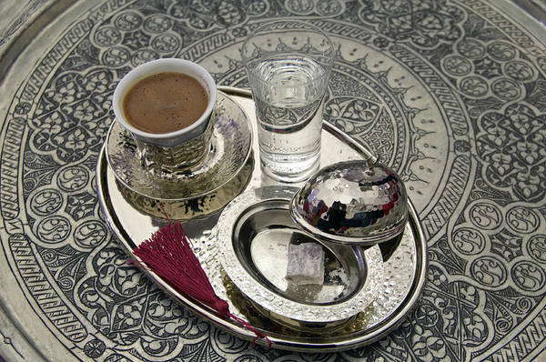 Boil Photograph - Traditional Turkish Coffee And Lokum by Ayhan Altun