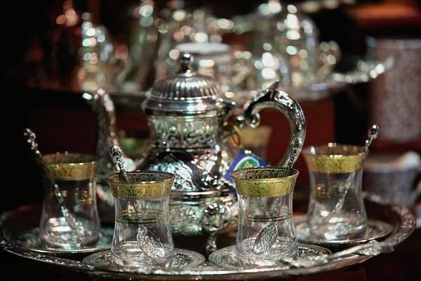 Teapot Photograph - Traditional Turkish Tea Set by Www.ingetjetadros.com ©ingetje Tadros