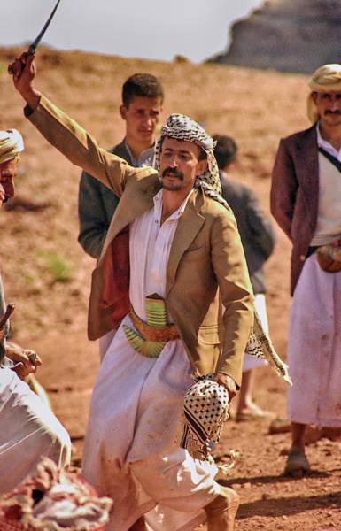 Photograph - Traditional Yemeni Wedding Dance by Robert Woodward