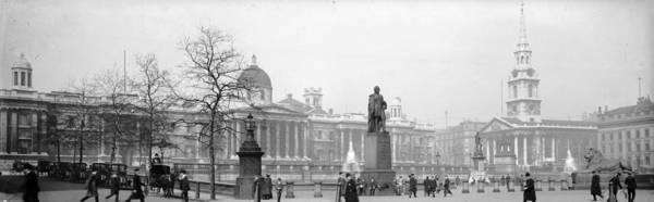 Wall Art - Photograph - Trafalgar Square by Alfred Hind Robinson