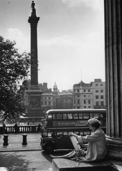 Pencil Drawing Photograph - Trafalgar Square by Evening Standard