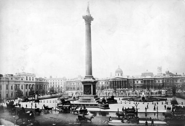 1889 Photograph - Trafalgar Square by Francis Frith