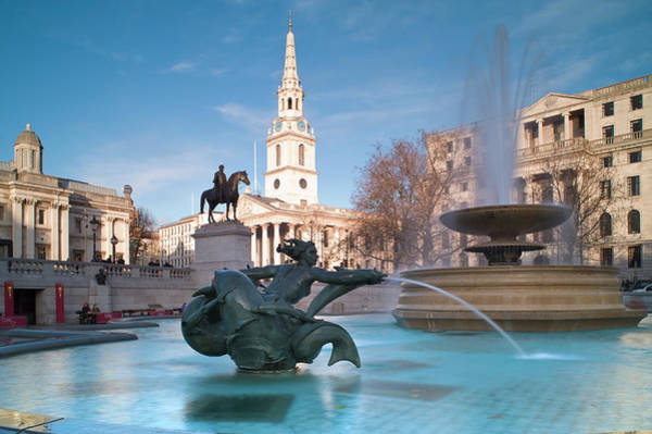 Trafalgar Photograph - Trafalgar Square, London, England by Ben Pipe Photography