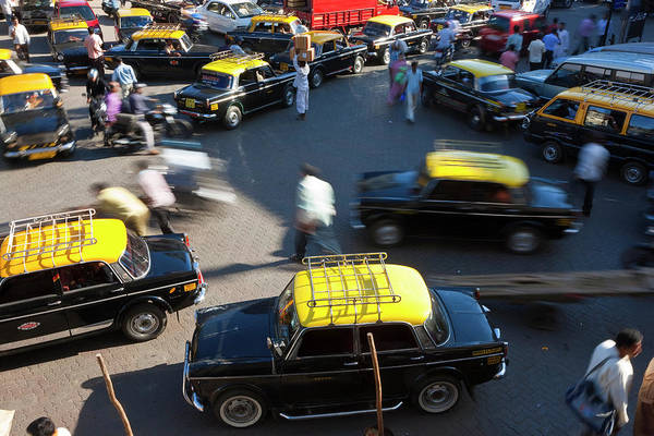 Wall Art - Photograph - Traffic Congestion In Mumbai, Bombay by Peter Adams