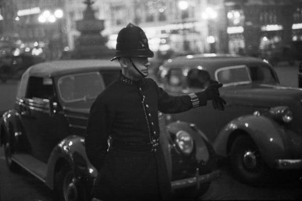 Mode Of Transport Photograph - Traffic Cop by Kurt Hutton
