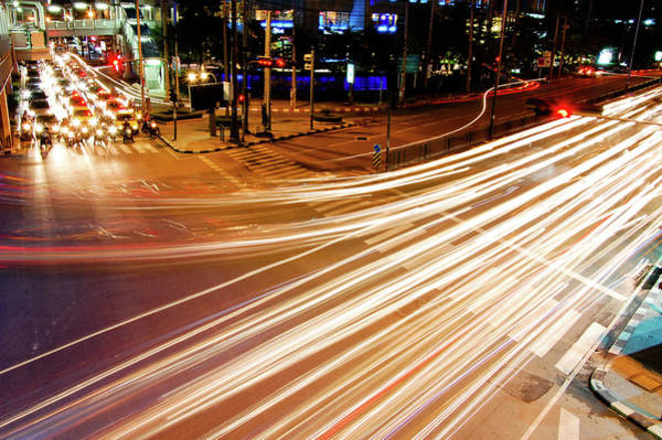 Rush Hour Photograph - Traffic In Bangkok by By Marin.tomic