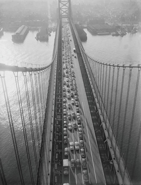 Sweater Photograph - Traffic Jam On Bridge by H. Armstrong Roberts