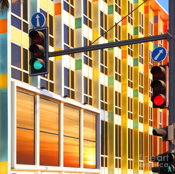 Wall Art - Photograph - Traffic Lights Against Colorful by Protasov An