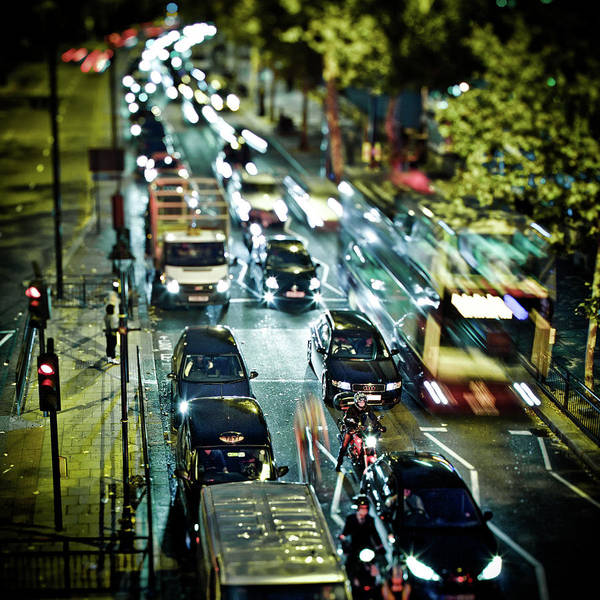 Wall Art - Photograph - Traffic On London Street by Michael Marsh/stocks Photography/getty Images