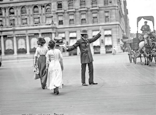 Painting - Traffic Squad Police, July 20, 1911 By G. G. Bain by Celestial Images