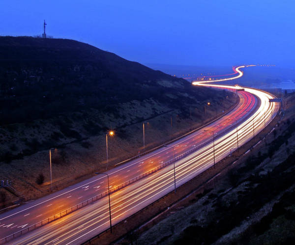 Greater Manchester Wall Art - Photograph - Traffic Trails by Craig Hannah Photography