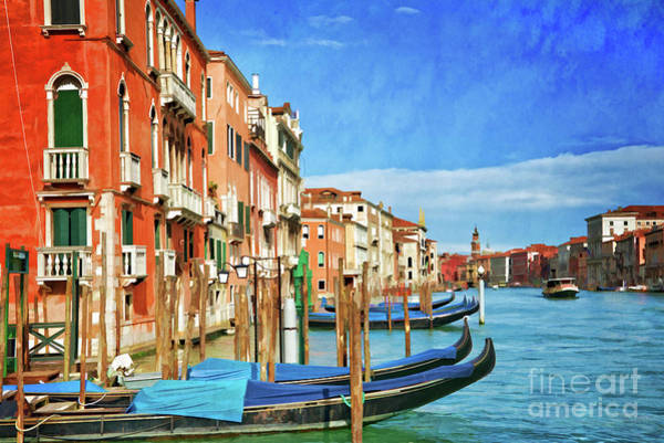 Wall Art - Painting - Traghetto by Delphimages Photo Creations