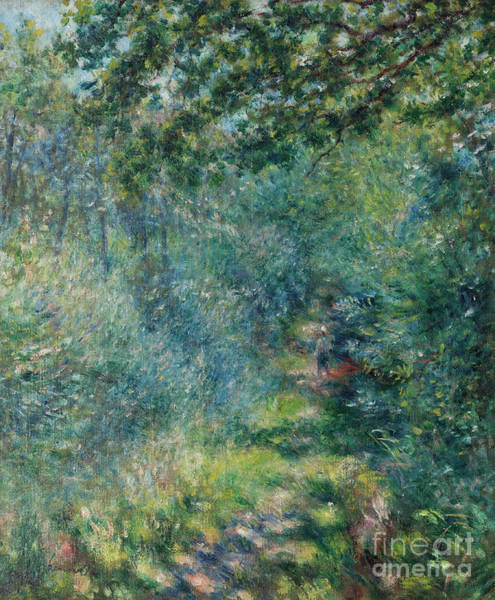 Wall Art - Painting - Trail In The Woods by Pierre Auguste Renoir