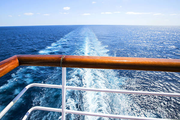 Wall Art - Photograph - Trail On Water Surface Behind Of Cruise by May lana