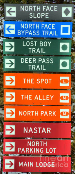 Somerset County Photograph - Trail Signs At 7 Springs by Adam Jewell