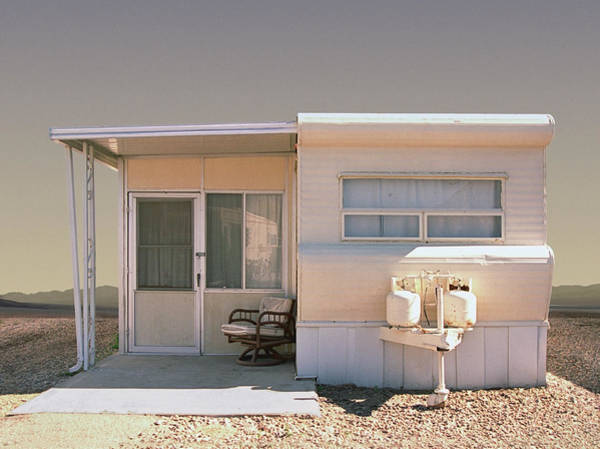 Armchair Photograph - Trailer In Trailer Park, Close-up by Ed Freeman
