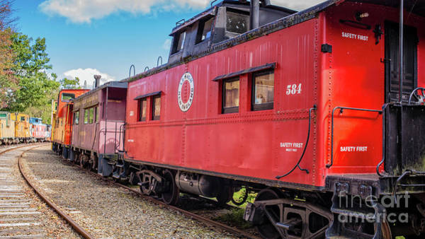 Wall Art - Photograph - Train Caboose Village Tilton New Hampshire 2 by Edward Fielding