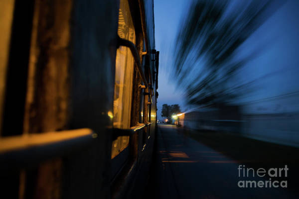 Train In Motion Art Print