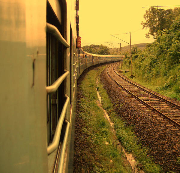 Kerala Photograph - Train Journey by Photography By Lubaib Gazir