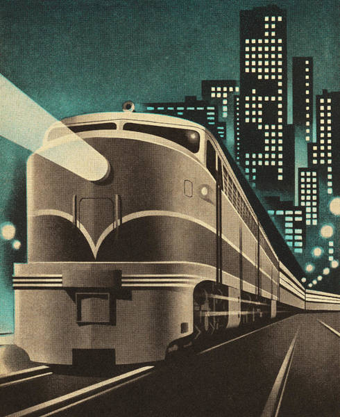Object Digital Art - Train Leaving City by Csa Images