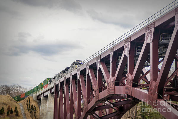 Photograph - Train Over Letchworth by Jim Lepard