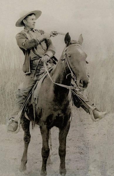 Gunslinger Photograph - Train Robber Will Roberts C. 1900 by Daniel Hagerman